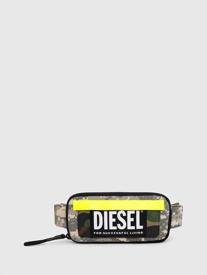 Diesel - BELT RUBBER CASE BIG, Verde Camo - Portafogli Continental - Image 1