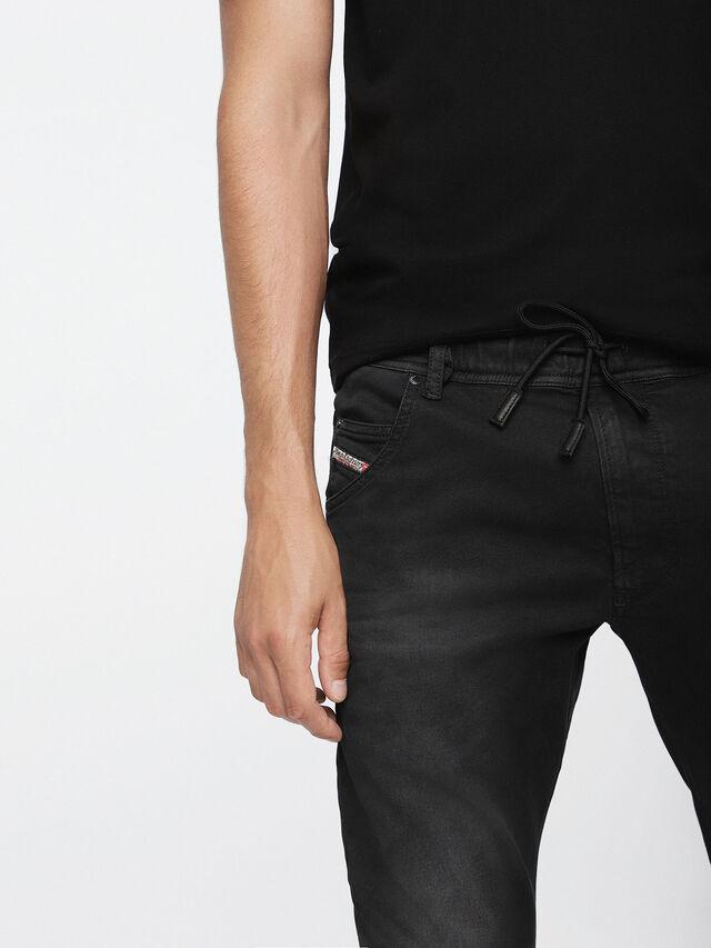 Diesel - Krooley JoggJeans 0670M, Nero Jeans - Jeans - Image 3