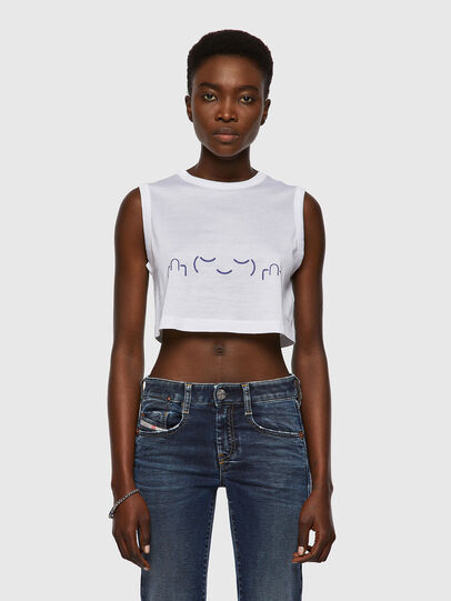 Diesel - T-WELL, Bianco - T-Shirts - Image 1