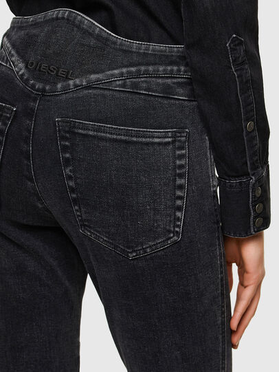 Diesel - Babhila 009UZ, Nero/Grigio scuro - Jeans - Image 4