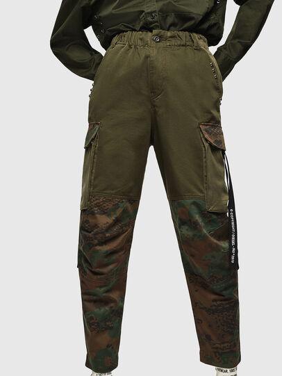 Diesel - P-THENA-A, Verde Camo - Pantaloni - Image 1