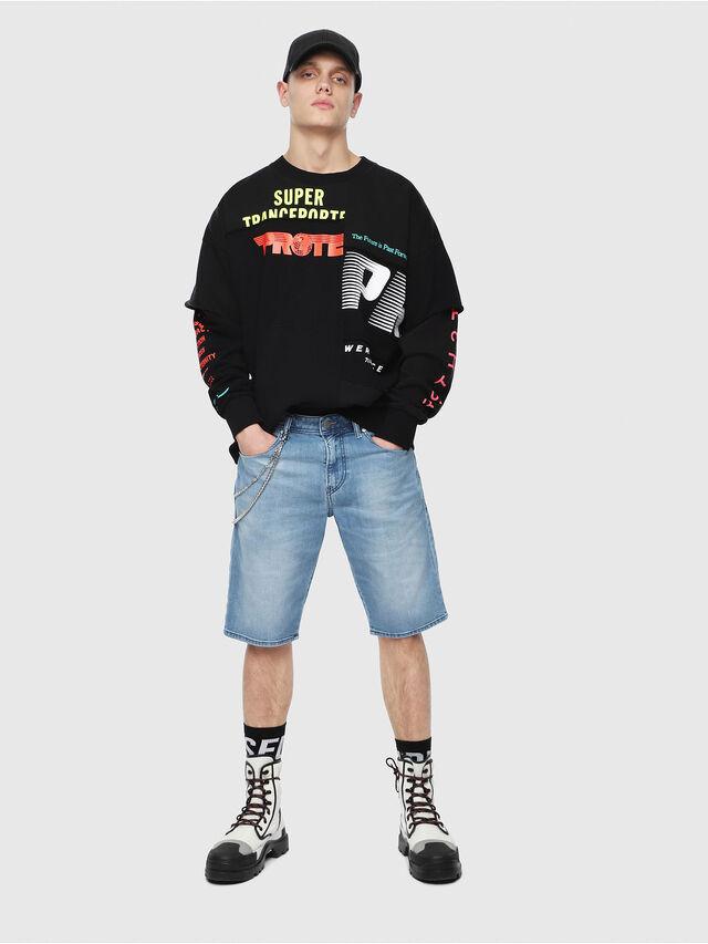 Diesel THOSHORT, Blu Chiaro - Shorts - Image 4