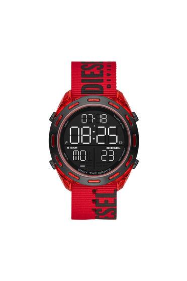 Orologio digitale Crusher con cinturino in nylon rosso