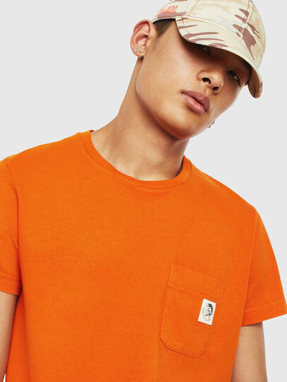 Diesel - T-WORKY-MOHI-S1, Arancione - T-Shirts - Image 3