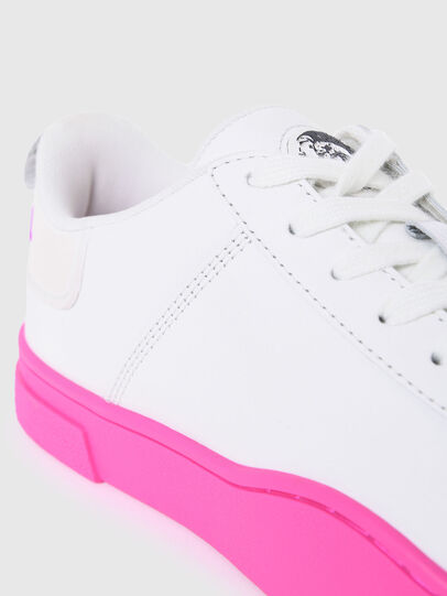 Diesel - S-CLEVER LOW LACE W, Bianco/Rosa - Sneakers - Image 4