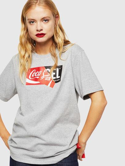 Diesel - CC-T-JUST-COLA, Grigio - T-Shirts - Image 2