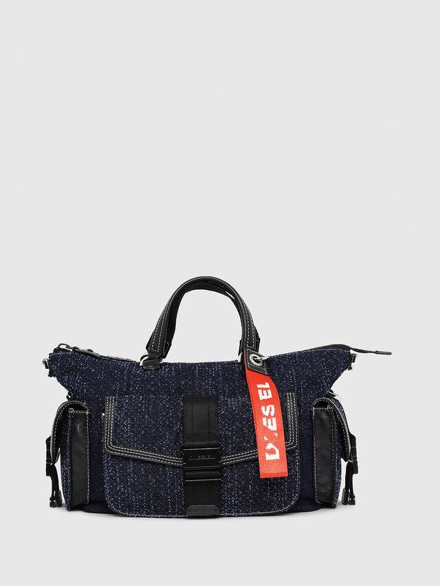 Diesel - MISS-MATCH SATCHEL M, Blu Jeans - Cartelle e Borse a Mano - Image 1