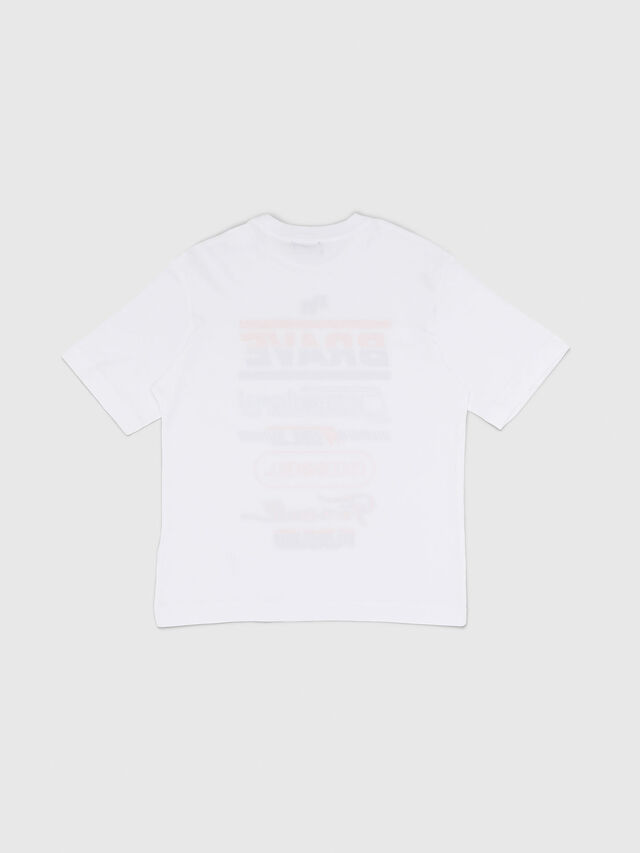 Diesel - TDIEGOSP OVER, Bianco - T-shirts e Tops - Image 2