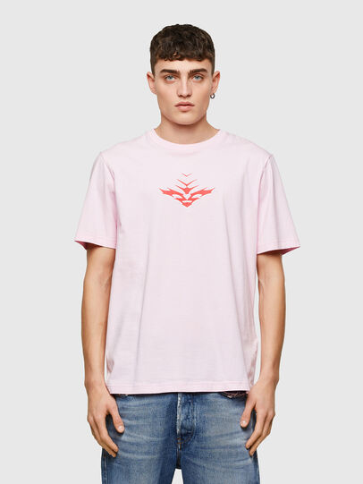 Diesel - T-JUST-E14, Cipria - T-Shirts - Image 1
