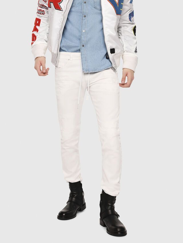 Diesel - Thommer JoggJeans 069DS, Bianco - Jeans - Image 1