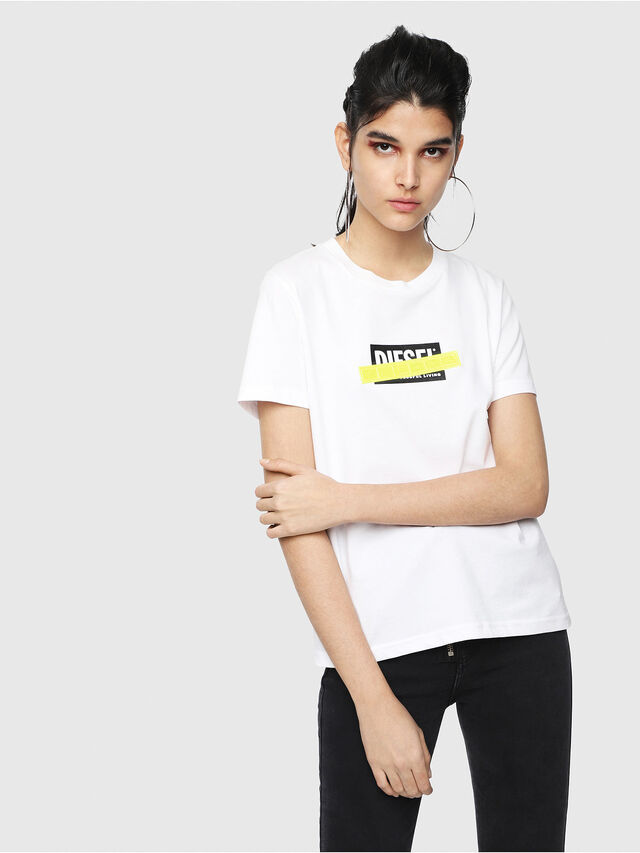 Diesel - T-SILY-WL, Bianco - T-Shirts - Image 1
