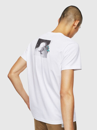 Diesel - T-DIEGO-J20, Bianco - T-Shirts - Image 3