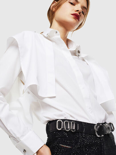 Diesel - C-RAILY-SHAPED, Bianco - Camicie - Image 3