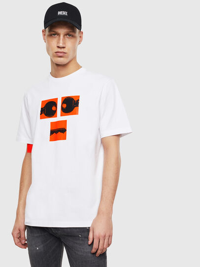 Diesel - T-JUST-T23, Bianco - T-Shirts - Image 1