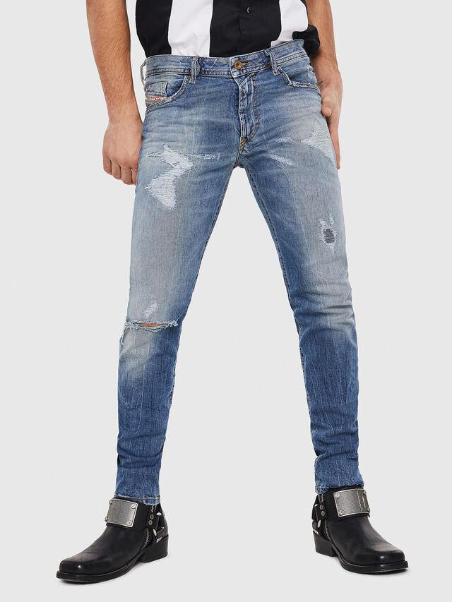 Diesel - Thommer 0090M, Blu Chiaro - Jeans - Image 1