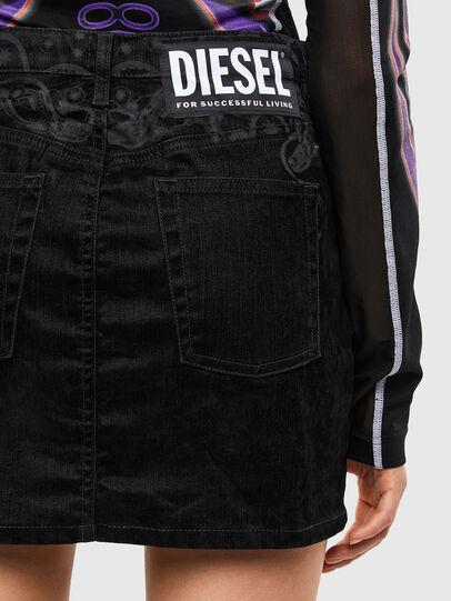 Diesel - DE-FREESIA-SP, Nero - Gonne - Image 5