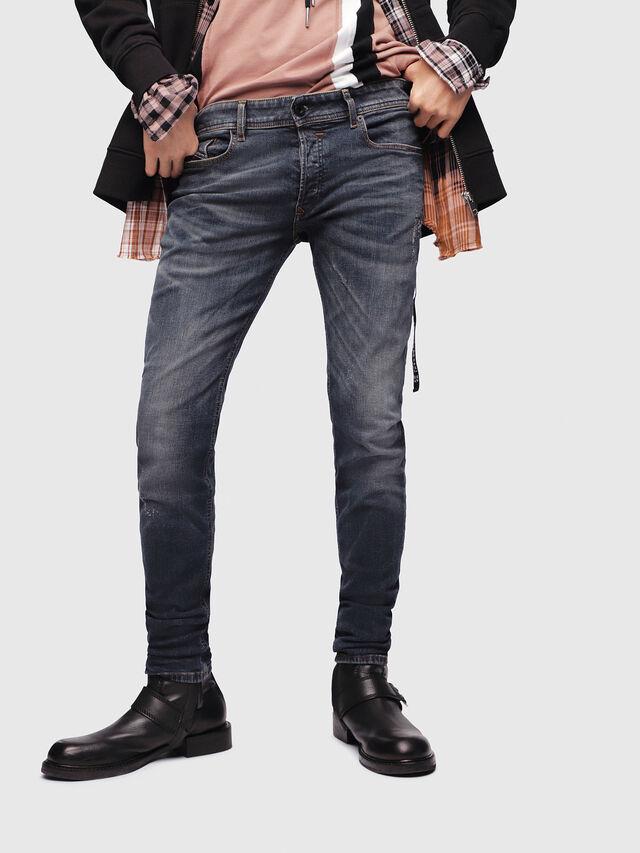 Diesel - Sleenker 069DG, Blu Scuro - Jeans - Image 1