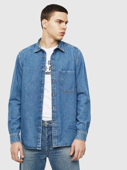 Diesel - D-BER-P, Blu Jeans - Camicie in Denim - Image 6
