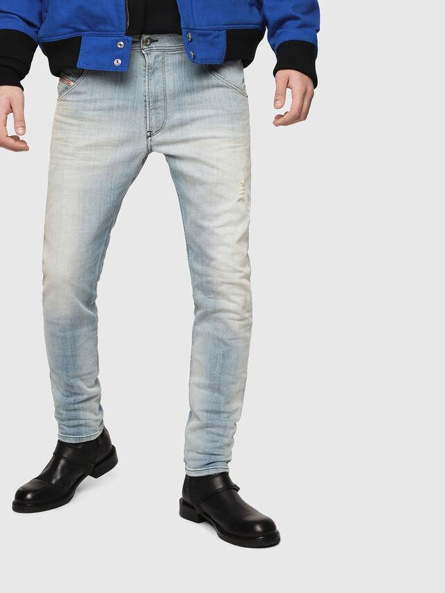 Diesel - Krooley JoggJeans 087AB, Blu Chiaro - Jeans - Image 1