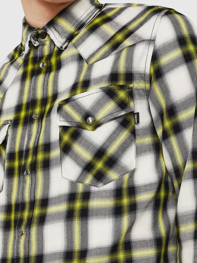 Diesel - S-EAST-LONG-G, Bianco/Nero - Camicie - Image 3