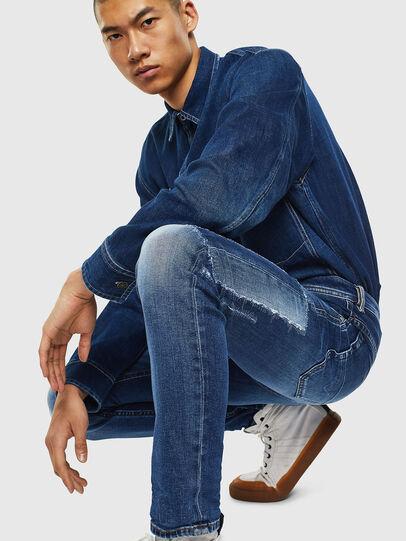 Diesel - Thommer 0097W, Blu Scuro - Jeans - Image 3