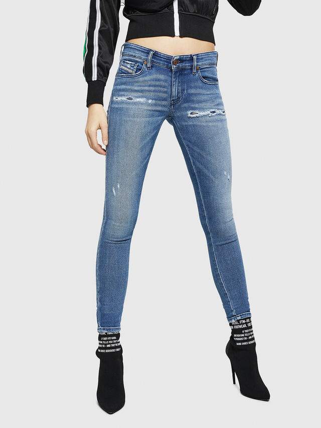 Diesel - Slandy Low 083AP, Blu medio - Jeans - Image 1