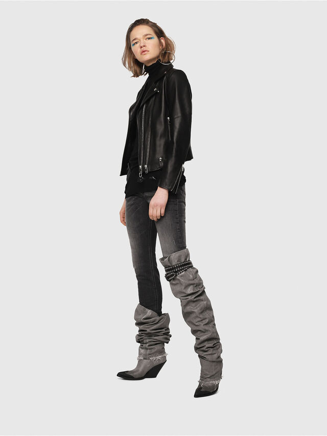 Diesel - Krailey JoggJeans 0077T, Nero/Grigio scuro - Jeans - Image 5