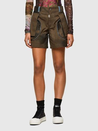 Shorts cargo in tela tie-dye