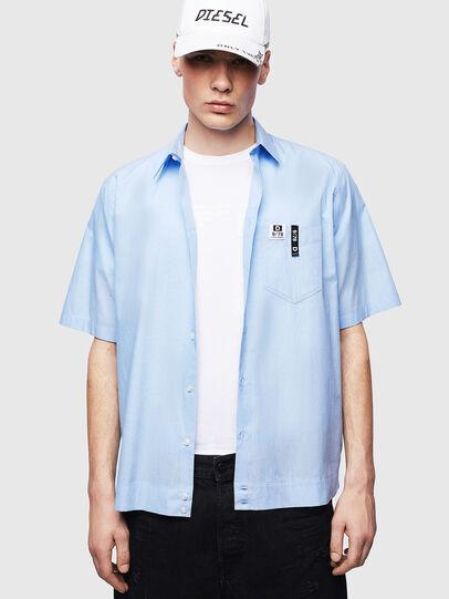 Diesel - S-FRY-FLUO, Blu Chiaro - Camicie - Image 4