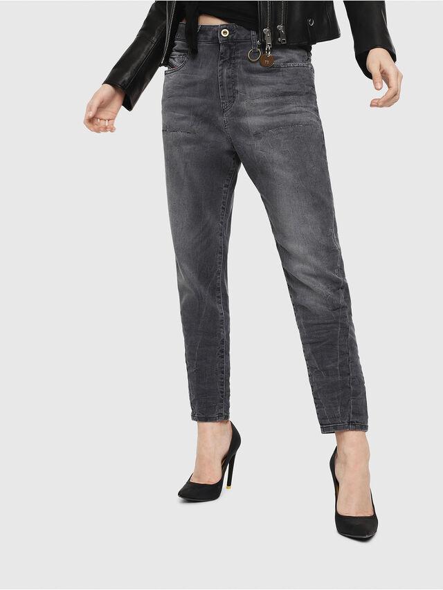 Diesel - Candys JoggJeans 069EP, Nero/Grigio scuro - Jeans - Image 1