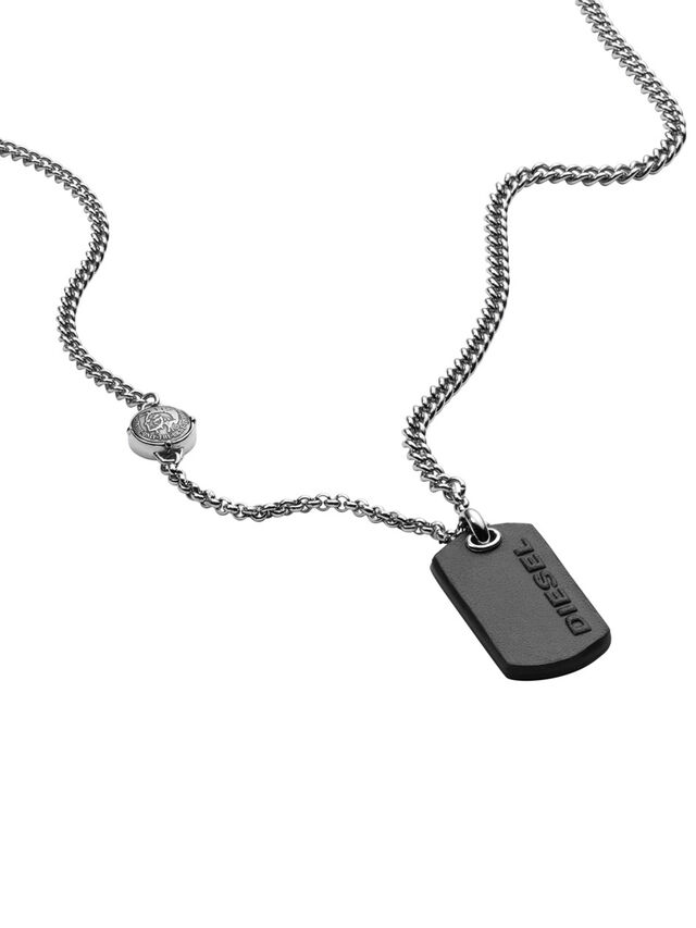 Diesel - NECKLACE DX1012, Argento - Collane - Image 2