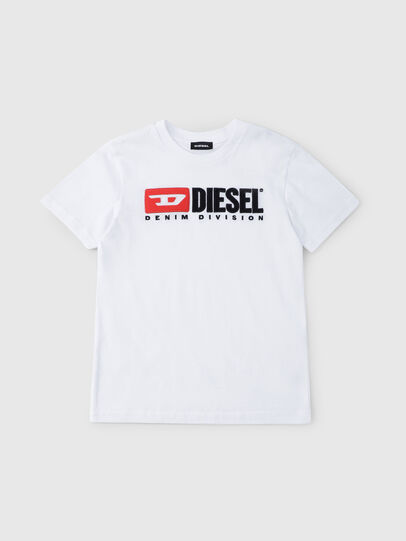 Diesel - TJUSTDIVISION, Bianco - T-shirts e Tops - Image 1