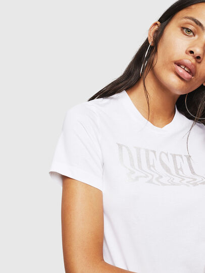 Diesel - T-SILY-WN, Bianco - T-Shirts - Image 3