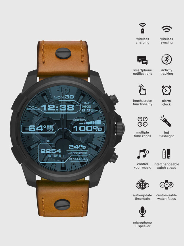 Diesel - DT2002, Marrone - Smartwatches - Image 1