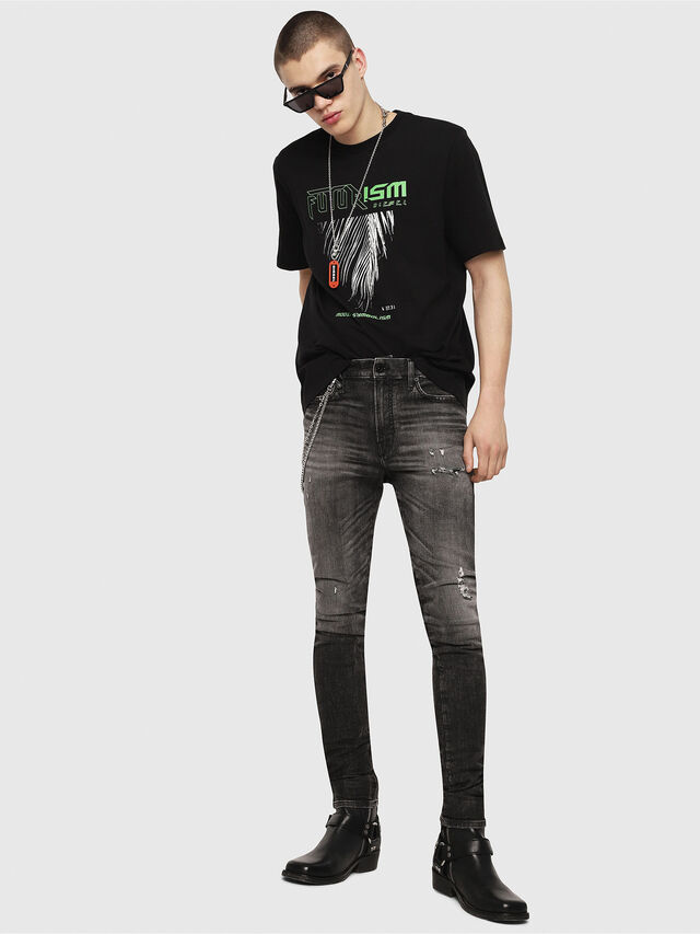 Diesel - T-JUST-Y25, Nero - T-Shirts - Image 4