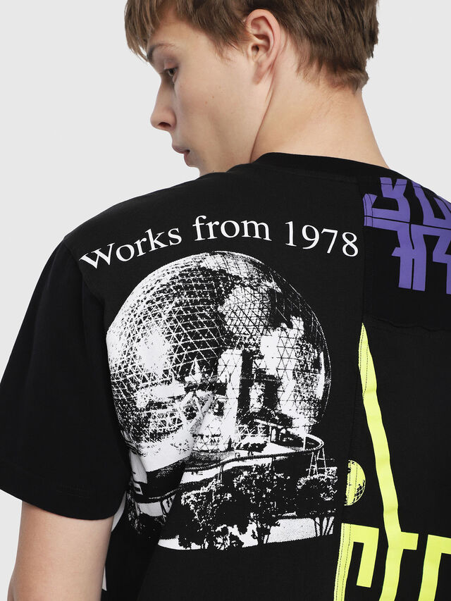 Diesel - T-WALLACE-CUT, Nero - T-Shirts - Image 3