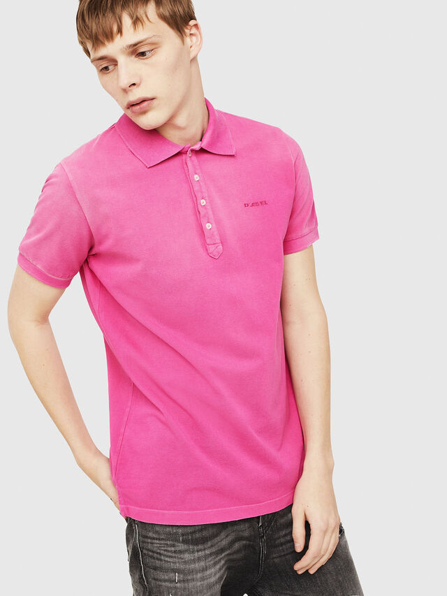 Diesel - T-NIGHT-BROKEN, Fucsia - Polo - Image 1