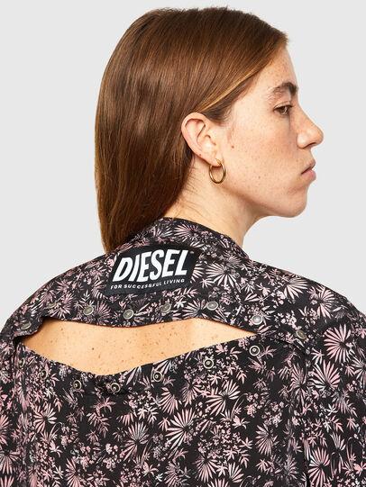 Diesel - D-SUPER-H-LONG, Nero/Viola - Vestiti - Image 3