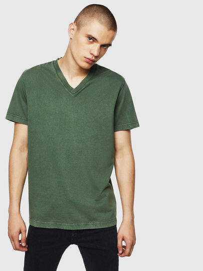 Diesel - T-THEA, Verde Scuro - T-Shirts - Image 1