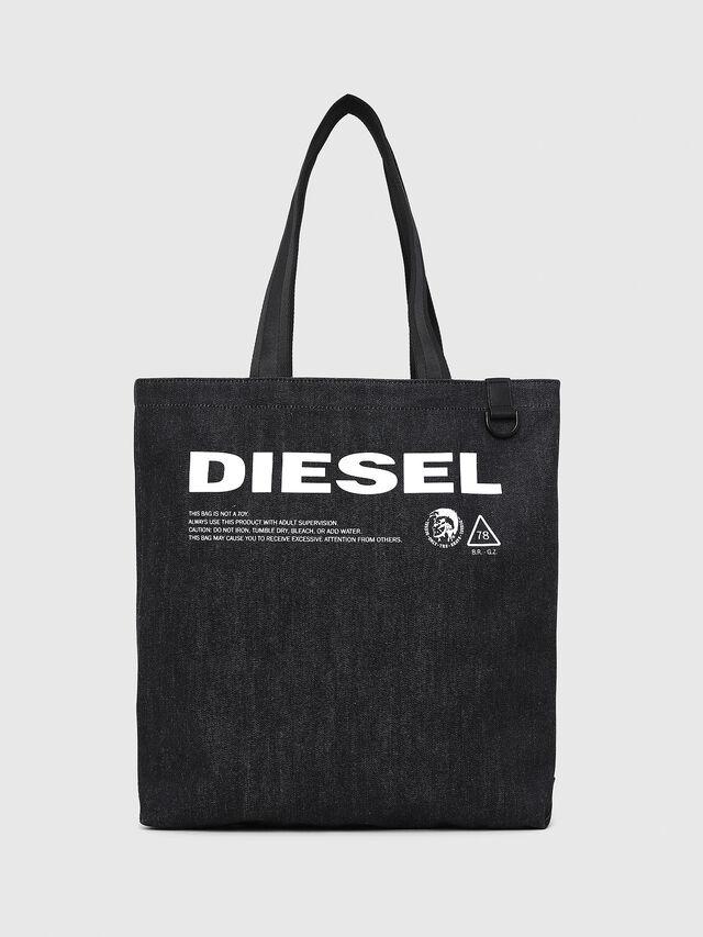 Diesel - F-THISBAG SHOPPER NS, Blu Scuro - Shopper e Borse a Spalla - Image 1