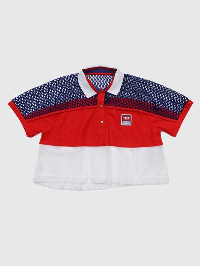 Diesel - TVAITEA, Rosso/Bianco - T-shirts e Tops - Image 1