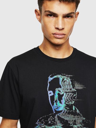 Diesel - T-JUST-J12, Nero - T-Shirts - Image 3