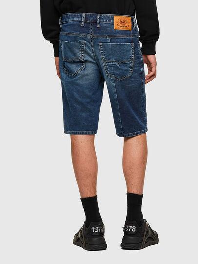 Diesel - D-KROOSHORT-Y-GO JOGGJEANS, Blu Scuro - Shorts - Image 2