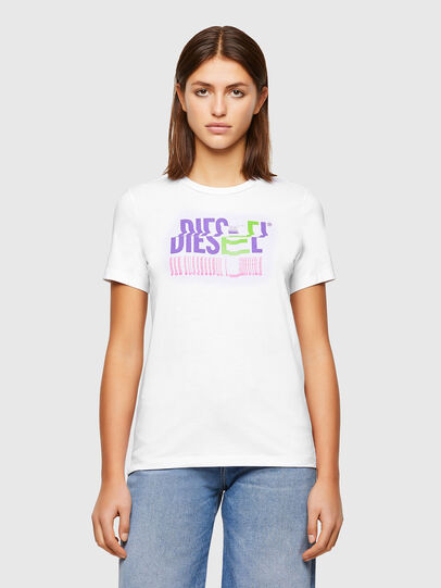 Diesel - T-SILY-K6, Bianco - T-Shirts - Image 1