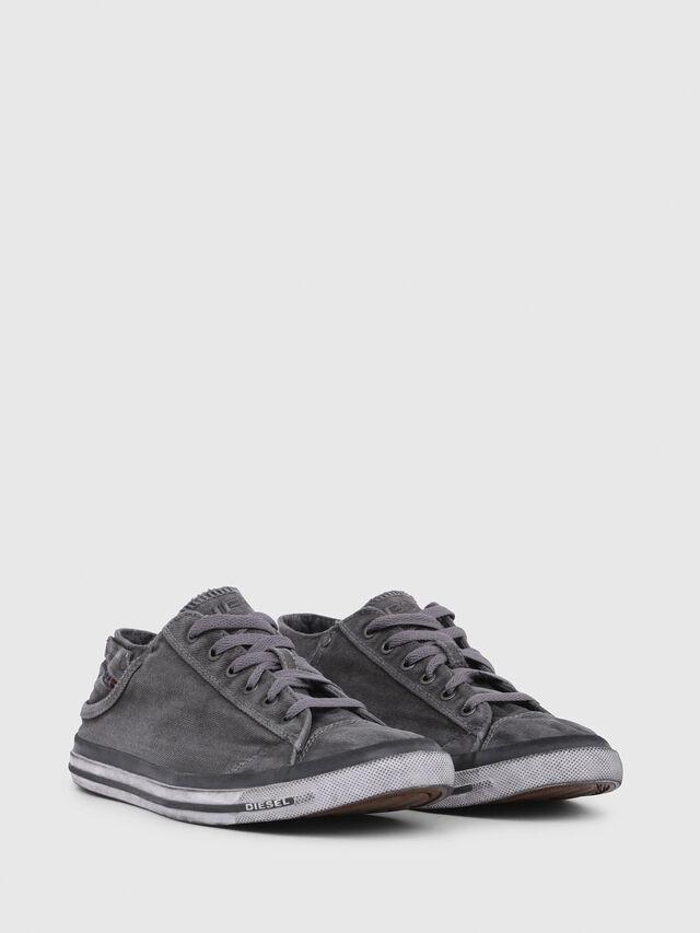 Diesel - EXPOSURE LOW I, Grigio Metallizzato - Sneakers - Image 2