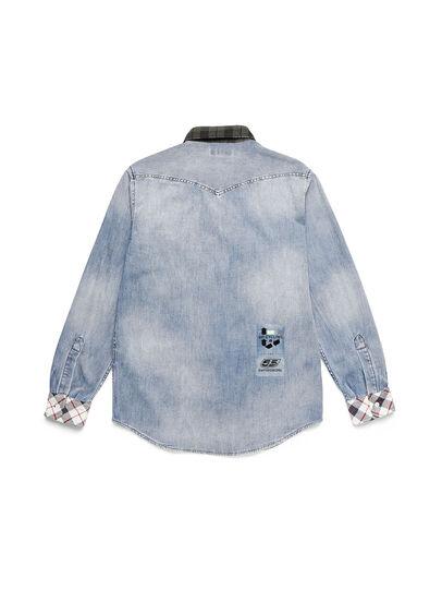 Diesel - D-DEEPCHECK-A, Blu Chiaro - Camicie in Denim - Image 2