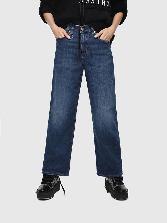 Diesel - Widee JoggJeans 080AR, Blu Scuro - Jeans - Image 1