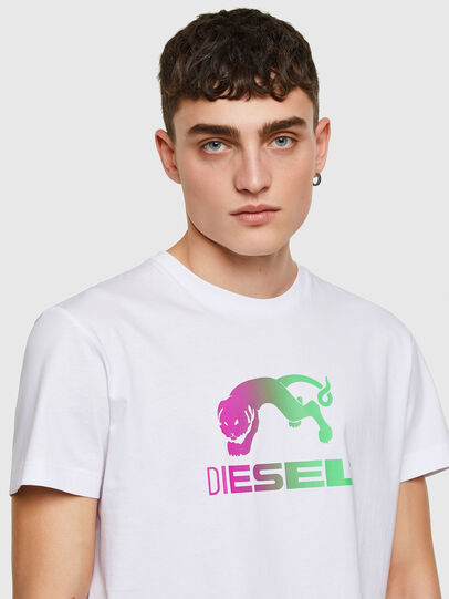 Diesel - T-DIEGOS-E30, Bianco - T-Shirts - Image 3