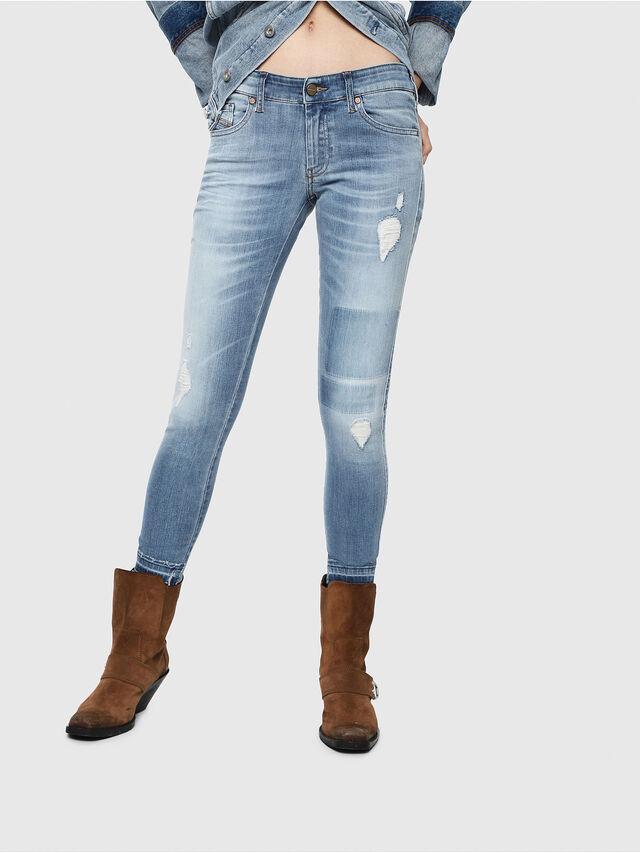 Diesel - Slandy Low 086AH, Blu Chiaro - Jeans - Image 1
