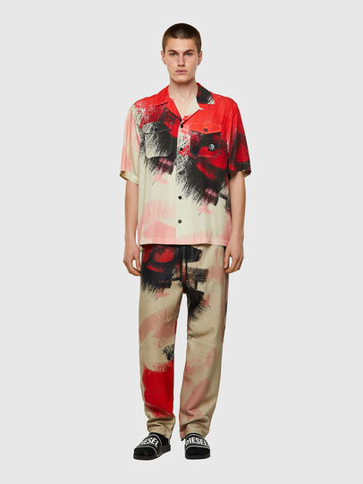 Diesel - S-WOLF-ALL, Rosso/Bianco - Camicie - Image 4